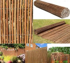 WILLOW 4M Long SCREENING ROLL Screen Fencing Garden Fence Panel WOODEN Outdoor