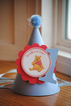 NEW  Classic Winnie the Pooh Party Hat by mlf465 on Etsy, $5.50