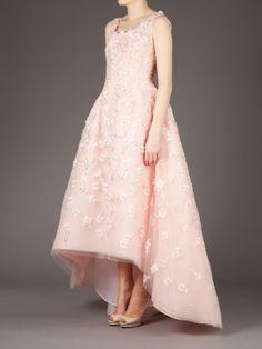 Oscar De La Renta Floral Embellished Evening Gown in Pink (pink & purple) - Lyst   jaglady
