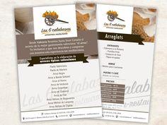 Flyer arrocería restaurante Las 6 calabazas
