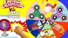 Juego de Ruleta Sorpresa de Fidget Spinners VS el Capitán Calzoncillos e...