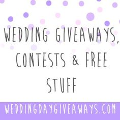 Wedding freebies a complete list of free wedding stuff and how to want free stuff for your wedding wedding day giveaways is website is a directory of junglespirit Choice Image