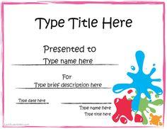 Award Certificate Template  Certificate Templates