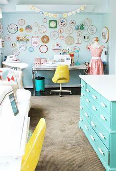 Sewing Room Ideas - Via Flamingotoes