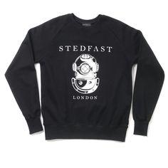 Stedfast London Black sweatshirt mens