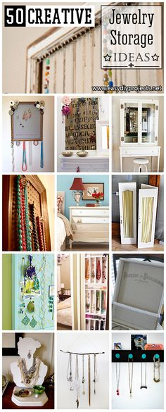 Lovely Jewelry Storage Ideas… Saw the picture fr | HGTV Decor