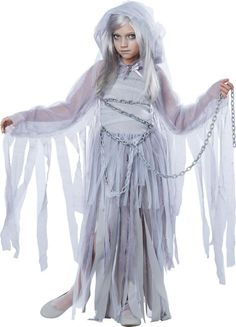 Girls Haunting Beauty Ghost Costume - Party City
