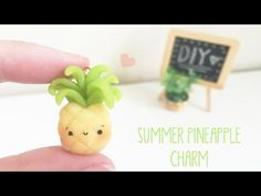 Kawaii DIY Pineapple Charm Bracelet polymer clay tutorial