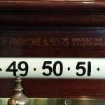 Thos. Padmore antique rollerboard scorer scoreboard B587 | Browns Antiques Billiards and Interiors.
