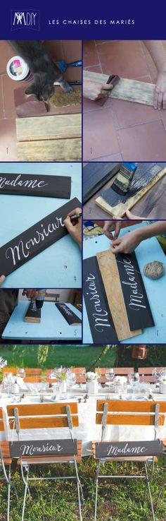 DÉCORER SES CHAISES DE MARIÉS by Monsieur Plus Madame (M+M) www.monsieurplusmadame.fr