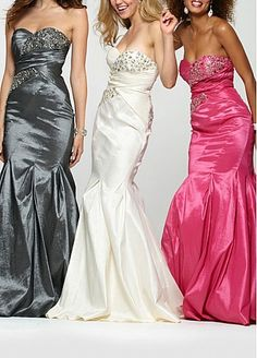 Stunning Taffeta Mermaid Strapless Sweetheart Beaded Bodice Full Length Prom Dress With Train Pink Prom Dresses, Wedding Dresses Plus Size, Bridal Wedding Dresses, Strapless Dress Formal, Formal Outfits, Formal Dresses, Prom Dress With Train, Occasion Dresses, Bodice
