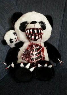 Valentines Zombie Teddy Bear Panda with Zombie Baby Halloween Haunted House Prop in Collectibles | eBay