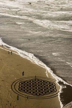 Andres Aador Maakt Met Een Hark De Mooiste Kunst Op Het Strand