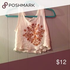 Tank top Worn a few times creme colors with fun design on front Tops Tank Tops