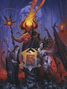 Pathfinder Roleplaying Game: Book of the Damned cover art by Wayne Reynolds