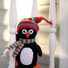 Pebble's Penguin here reminding you to get your scarves out. It's getting nippy in the American Midwest.  #scarf #penguin #crochet #pebblechild #fairtrade #Midwest #ohio