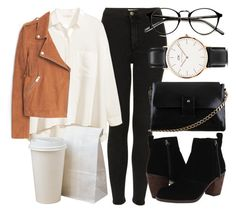 """""""Untitled #4540"""" by laurenmboot ❤ liked on Polyvore featuring Topshop, H&M, MANGO, Dolce Vita and Daniel Wellington"""