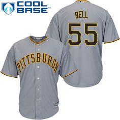 488b95b6e31 Pirates  55 Josh Bell Grey New Cool Base Stitched MLB Jersey Steelers  Football