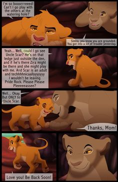 Got some more feels for ya! Next Page: Previous Page: Mufasa's Reign: Chapter Page 20 Lion King Story, Lion King Fan Art, Lion King Timon, Disney Lion King, Lion King Pictures, Young Simba, The Lion King 1994, Le Roi Lion, Comics