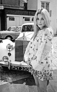Sharon Tate photographed by Terry O'Neill in London, July 1969.