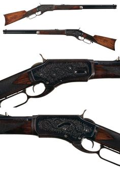 A rare factory engraved Whitney-Kennedy lever action rifle.  Produced between 1879 and 1886.