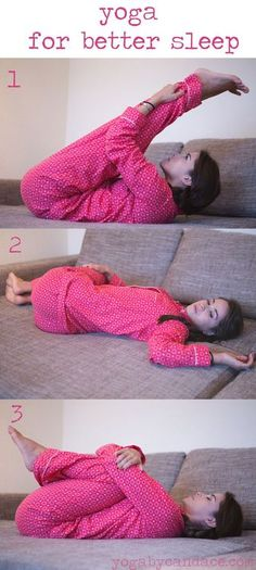 3 Yoga Poses for Better Sleep. If your kids love doing yoga with you they can do these poses, too, and have a better night's sleep. get better sleep, sleeping tips Pranayama, Good Night Yoga, Good Night Sleep, Yoga Stretching, Bedtime Yoga, Sleep Yoga, Yoga Poses For Sleep, Yoga Posen, Yoga For Kids
