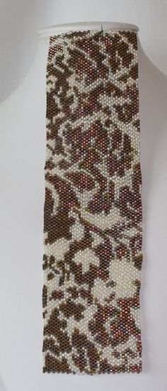 peyote+stitch+patterns | Seed Bead PATTERN Peyote Stitch for Lace 6 by pearlweaver on Etsy, $6 ...