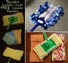 Reuseable Swiffer Cover Free Crochet Pattern