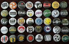 Indie Britpop Grunge 90's button badges x 40 Job lot. Collector. Bargain!!!