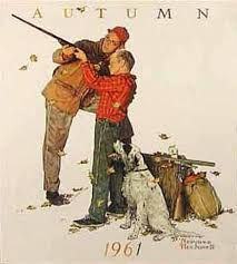 Image result for norman rockwell painting of a dog and quail