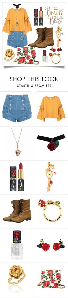 """""""Getting ready:Beauty and the Beast edition"""" by chlomolyn ❤ liked on Polyvore featuring Pierre Balmain, MANGO and Disney"""