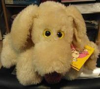 """VINTAGE LE MUTT 1980 14"""" FRANCESCA HOERLEIN STUFFED PLUSH DOG  w/ Tag Booklet"""