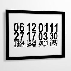 Important dates art print Family Special dates by MiraDoson, $9.00