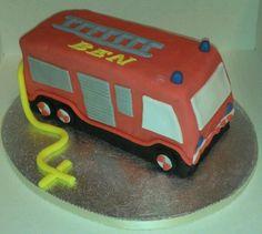 Fire engine cake Fire Engine Cake, Planet Cake, Cake Ideas, Birthdays, Birthday Cake, Party Ideas, Cakes, Toys, Pies