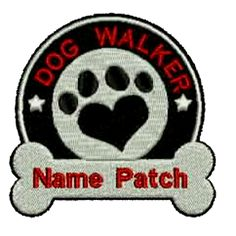 Dog Walker Custom Embroidered Patch, $5.99. FREE SHIPPING!