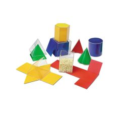 Learning Resources Folding Geometric Shapes, Multicolor