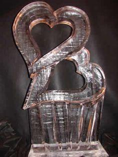 heart ice sculpture
