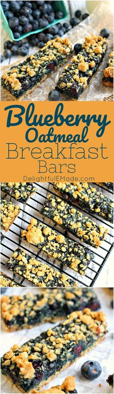 Loaded with juicy, ripe blueberries and topped with a brown sugar-oatmeal crumble, these Blueberry Oatmeal Breakfast Bars are a delicious way to have breakfast on the run. Great to enjoy fresh out of the pan, or wrap up and store in the freezer for a grab-and-go breakfast.
