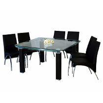 Mesa Para Comedor De Cristal Pannali Tabella Moderna