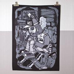 Siebdruck Poster »The Poor #1« Berlin, Illustrator, Design Blog, Design Ideas, Potpourri, Screen Printing, Poster, Prints, Inspiration