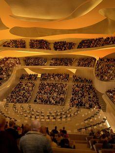 La Philharmonie de Paris - Architecte, Jean Nouvel - ouverture 2015 Jean Nouvel, Concert Hall Architecture, Architecture Design, Theatrical Scenery, Fondation Cartier, Orient Express, Auditorium, Dream Life, Cage