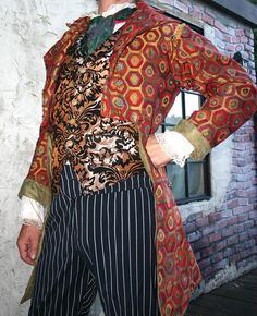 Red tapestry Steampunk frock coat. Red Tapestry 5a57eac7d