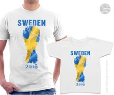 Sweden Football Fan Matching T-Shirts, Football Tournament in Russia