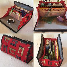 Quiltessa: Patchwork palette: My new Quilters organizer bag, now in red!