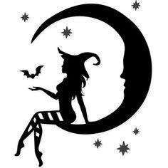 Browse the portfolio for Sophie Gallo. Be sure to check back often as artists are constantly adding new submissions to the Design Store! Silhouette Design, Witch Silhouette, Moon Silhouette, Silhouette Cameo Projects, Silhouette Images, Silhouette Portrait, Halloween Fashion, Halloween Crafts, Halloween Stencils