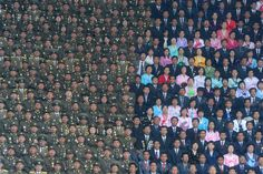 Winner, Professional Current Affairs: Personality and society. Reality vs illusions. North Korean Army soldiers and civilians on the stand of the Kim Il Sung Stadium. (© Ilya Pitalev/2013 Sony World Photography Awards)