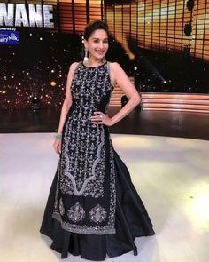 "b334a4f0a  pehnavadesi on Instagram  "" madhuridixitnene  indianfashion  indianwear   fashion  beauty  indianoutfit  beautiful  bollywoodfashion  bollywoodstyle   style…"