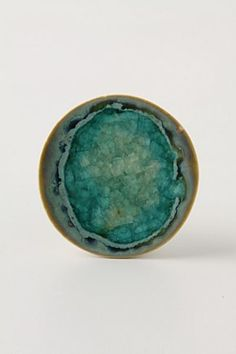 Prismatic Spring Drawer Pull from Anthropologie- in aquamarine or white - could be pretty in master bedroom
