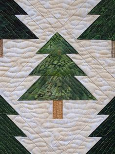 close up of Bear in the Woods by Sampaguita Quilts