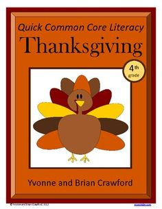 Thanksgiving Quick Common Core For 4th grade - Literacy is a packet of ten different worksheets featuring a Thanksgiving Day theme focusing on the English grammar and more. $